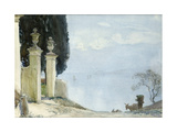 A Blue Day on Como, c.1900 Giclee Print by Joseph Walter West