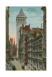 Wall Street, New York City. Postcard Sent in 1913 Giclee Print by  American Photographer