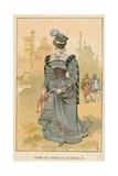 Dame Du Temps de Charles IX Giclee Print by Albert Robida