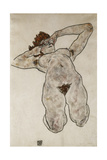 Nude Lying Down; Liegende Nackte, 1917 Giclee Print by Egon Schiele