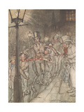 'Down a Slide at Cornhill', 1915 Giclee Print by Arthur Rackham