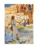 David and Goliath Giclee Print by William Henry Margetson