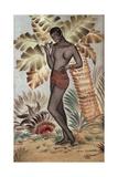 Josephine Baker, 1927 Reproduction procédé giclée par Jean Dunand
