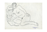 Sketch of a Woman, 1965 Giclee Print by Nina Ivanovna Shirokova