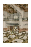 Interior of Early Twentieth Century Tearoom. Postcard Sent in 1913 Giclee Print by  English Photographer