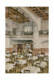 Interior of Early Twentieth Century Tearoom. Postcard Sent in 1913 Giclee Print by  English Photographer