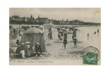 Postcard of the Beach and Boulevard St Georges, Royan, France Sent in 1913 Giclee Print by  French Photographer