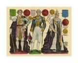 Victorian Scrap: King George IV, King William IV, Queen Victoria Giclee Print by  English School