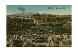 Bellini Garden, Catania,Sicily. Postcard Sent in 1913 Giclee Print by  Italian Photographer