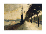 The Embankment, London; Der Uferdamm, London, 1926 Giclee Print by Lesser Ury