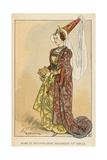 Robe et Houppelande Historiees XVe Siecle Giclee Print by Albert Robida
