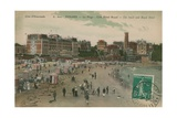 Dinard - the Beach and Royal Hotel. Postcard Sent in 1913 Giclee Print by  French Photographer