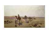 An Arab Caravan, 1903 Giclee Print by Ludwig Hans Fischer