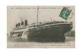 Ocean Liner 'France', Le Havre. Postcard Sent in 1913 Giclee Print by  French Photographer