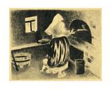 Baking Bread, 1925 Giclee Print by Galina Konstantinovna Shubina