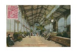 Karlsbad - Inside the Colonnade. Postcard Sent in 1913 Giclee Print by  German photographer