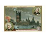 London, Parliament Giclee Print by  European School
