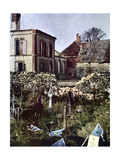 Cemetery in Charleville East of Reims During the Battle of the Marne East of Paris, September 1914 Giclee Print by Jules Gervais-Courtellemont