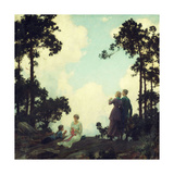 Under the Pines, 1916 Giclee Print by Charles Courtney Curran