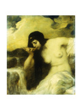 A Nymph Drinking at a Spring, 1907 Giclee Print by Ferdinand Keller