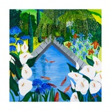 Arums by the Pond, 2013 Giclee Print by Maggie Rowe