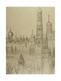 The Moscow Kremlin, 1972 Giclee Print by Masabikh Akhunov