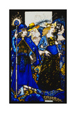 The Queens of Sheba, Meath and Connaught'. 'Queens', Nine Glass Panels Acided, Stained and… Gicléetryck av Harry Clarke