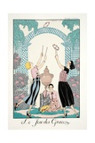 The Game of Graces, from 'Falbalas and Fanfreluches, Almanach des Modes Présentes, Passées et… Giclee Print by Georges Barbier