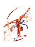 Penny Warden - Gymnast One, 2010 Digitálně vytištěná reprodukce