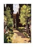 The Villa d'Este, Rome Giclee Print by Mima Nixon