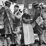 French Peasants Greet Two Heavily-Laden Americans, 1917 Photographic Print by  American Photographer