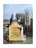 The Destroyed Bridge in Germigny-l'Eveque During the Battle of the Marne East of Paris, September… Giclee Print by Jules Gervais-Courtellemont