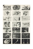 Full Undivided Sheet of the First Series of 21 Surrealist Picture Postcards, 1937 Giclee Print by Georges Hugnet