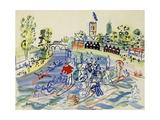 La Port de La Rochelle, 1927 Gicleetryck av Paul Signac
