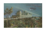 Excelsior Palace Hotel at the Venice Lido, Italy. Postcard Sent in 1913 Giclée-tryk af Italian School