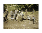 Group of French Soldiers Doing Laundry at a Well, Soissons, Aisne, 1917 Giclee Print by Fernand Cuville
