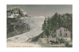 Chamonix - Bossons Glacier. Postcard Sent in 1913 Giclee Print by French Photographer