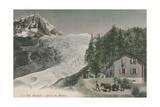 Chamonix - Bossons Glacier. Postcard Sent in 1913 Stampa giclée di  French Photographer