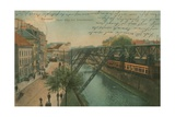 Barmen - New Monorail Route. Postcard Sent in 1913 Giclee Print by  German photographer