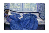 Girl in Blue, 1917 Giclee Print by Frederick Carl Frieseke
