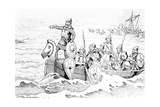 The Arrival of the Vikings in France Giclee Print by  JOB (Jacques Onfray de Breville)