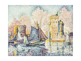 Tuna Boat Entering the Port of La Rochelle, Setting; Le Thonier Entrant Dans Le Port de La… Giclee Print by Paul Signac