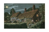 Ann Hathaway's Cottage. Postcard Sent in 1913 Giclee Print by  English Photographer