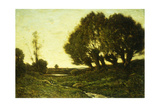 A Wooded Landscape with a Stream, 1903 Giclee Print by Henri-Joseph Harpignies