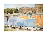 The North Wing of the Palace, from the Parterre d'Eau, Versailles Giclee Print by Mima Nixon