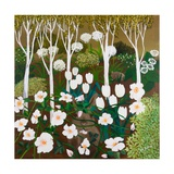 White Garden, 2013 Giclee Print by Maggie Rowe