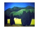 Landscape with Conifers, 1996 Giclee Print by Ann Brain