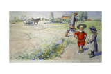 Esbjorn and the Peasant Girl; Esbjorn Och Bondflickan, 1904 Giclee Print by Carl Larsson
