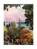 Lake Constance from Schloss Mainau Giclee Print by Mima Nixon