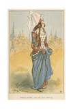 Noble Dame, Fin Du Xive Siecle Giclee Print by Albert Robida
